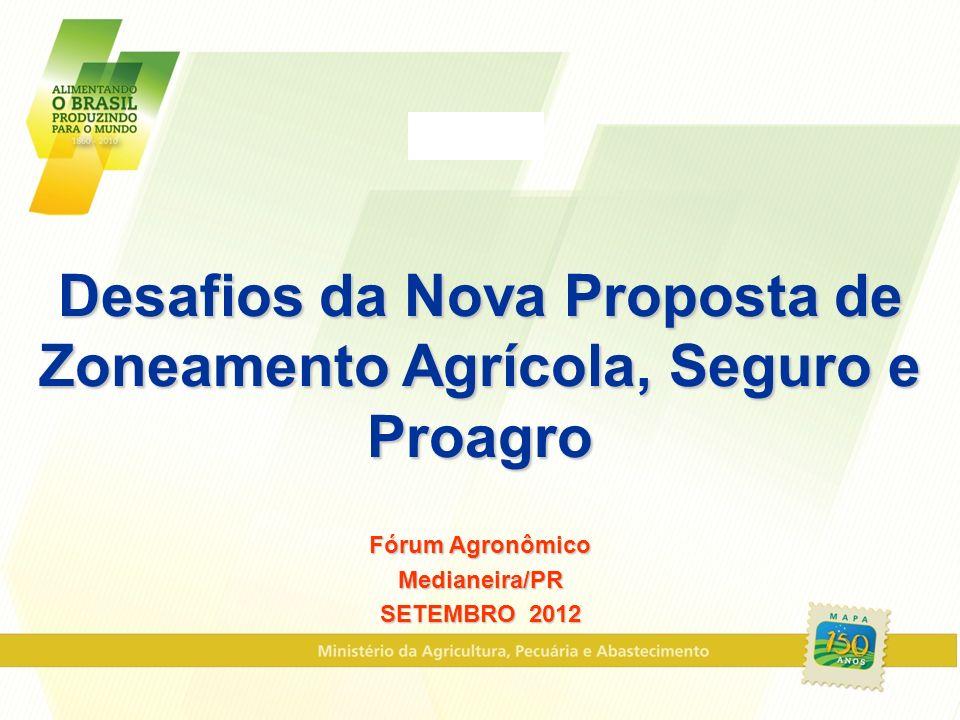 Desafios da Nova Proposta de Zoneamento Agrícola, Seguro e Proagro