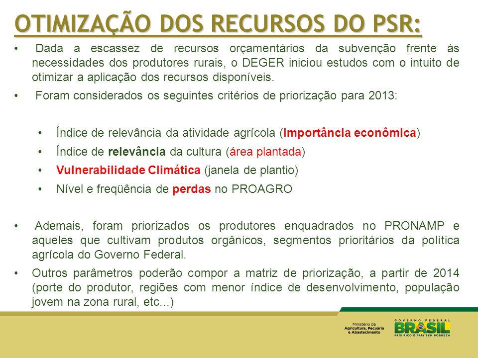 OTIMIZAÇÃO DOS RECURSOS DO PSR:
