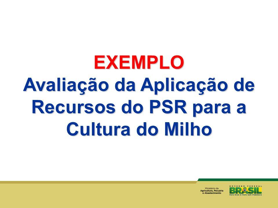 Avaliação da Aplicação de Recursos do PSR para a Cultura do Milho