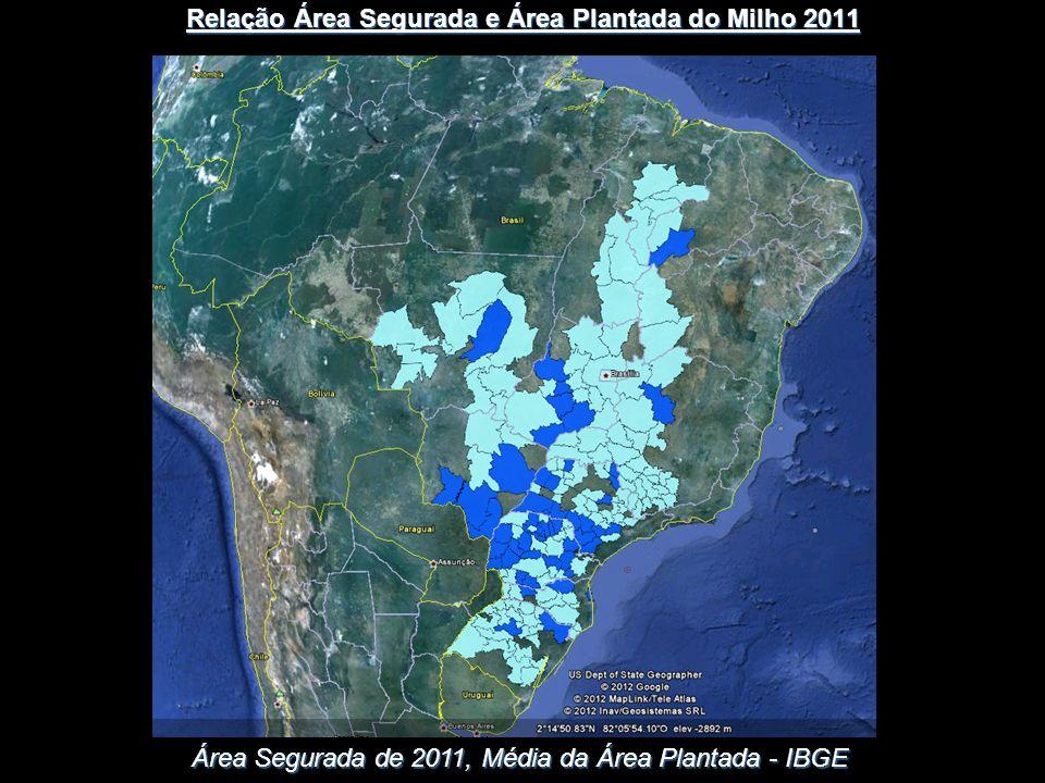 Relação Área Segurada e Área Plantada do Milho 2011