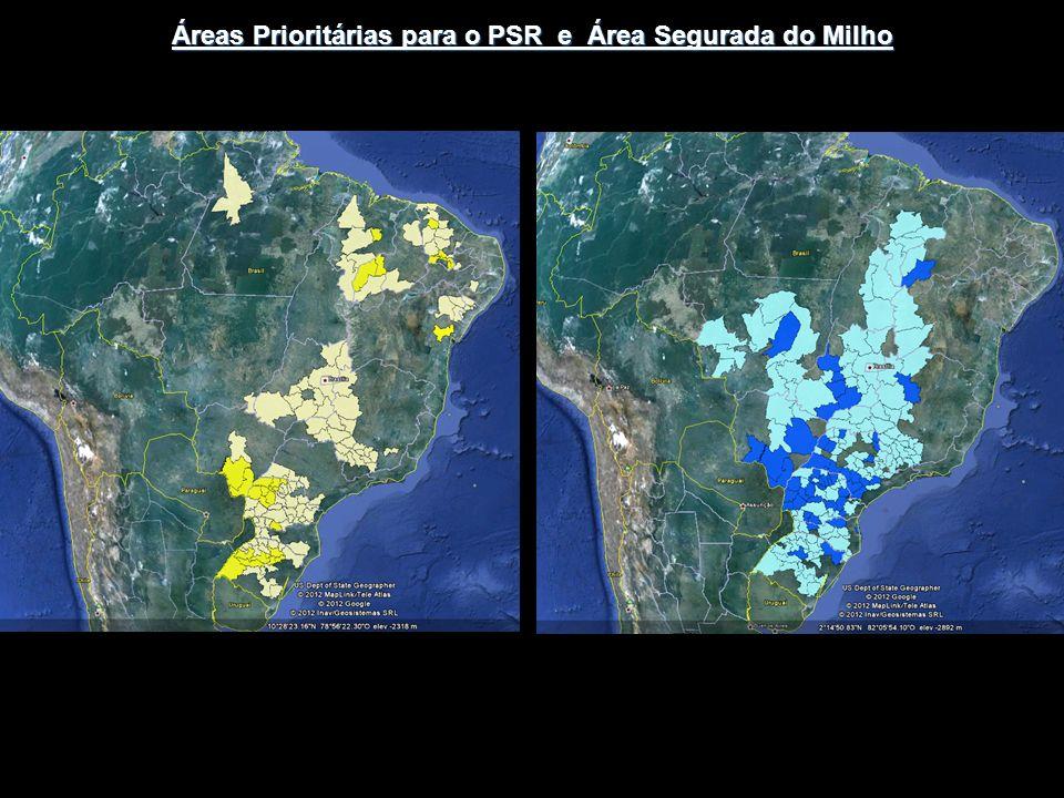 Áreas Prioritárias para o PSR e Área Segurada do Milho