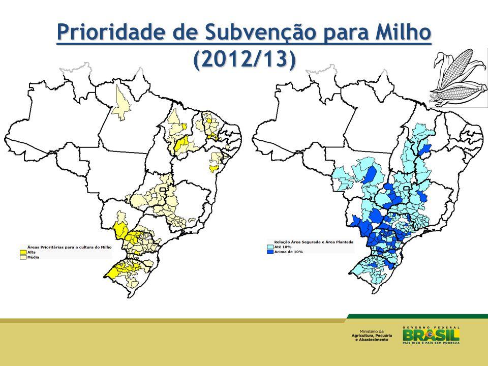 Prioridade de Subvenção para Milho (2012/13)