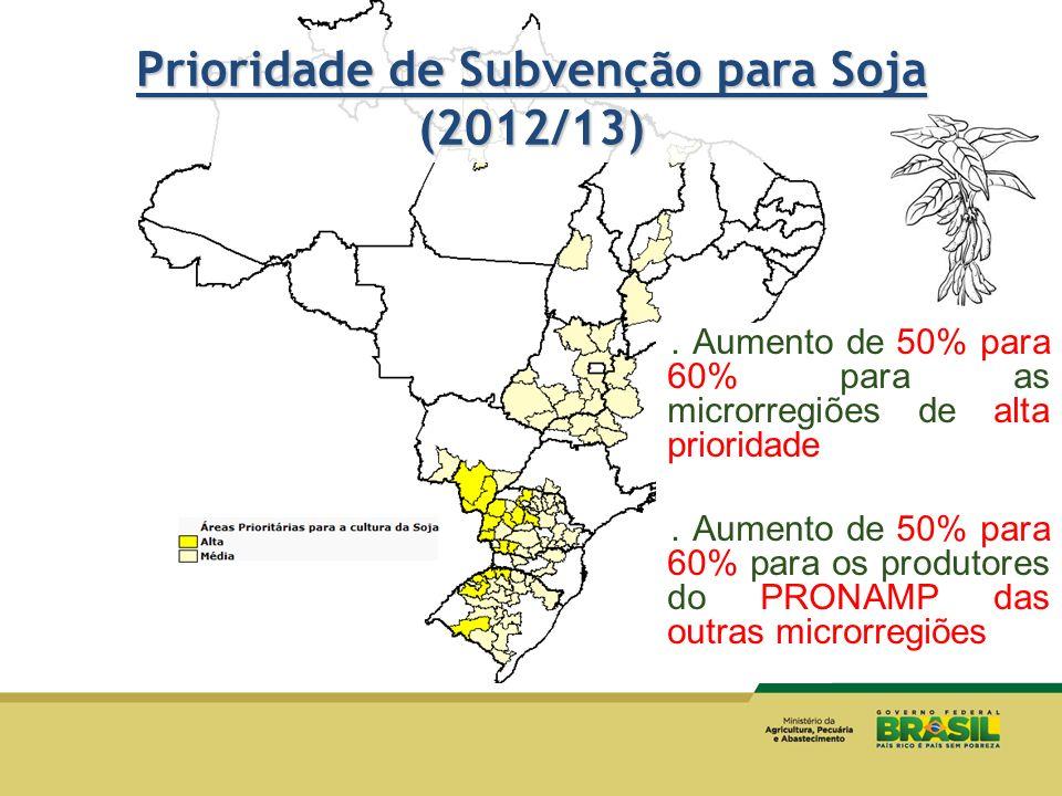 Prioridade de Subvenção para Soja (2012/13)