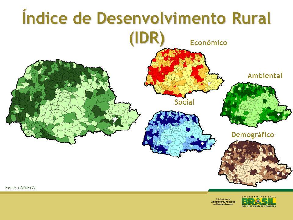 Índice de Desenvolvimento Rural (IDR)