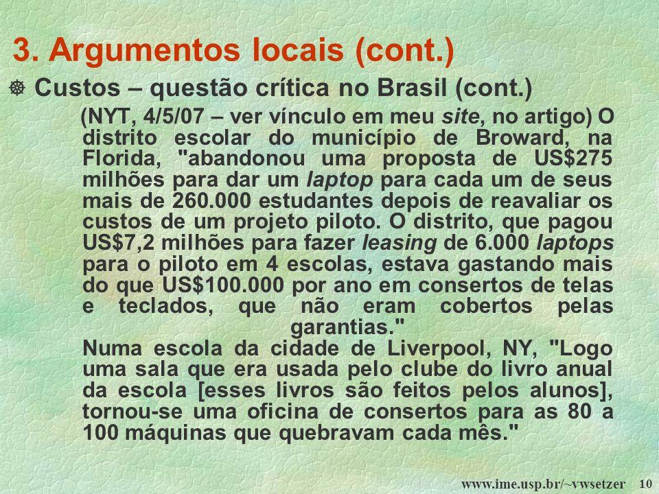 3. Argumentos locais (cont.)