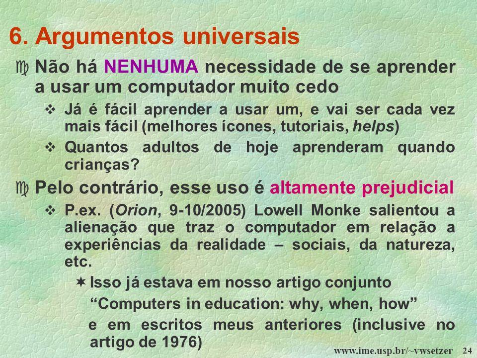 6. Argumentos universais
