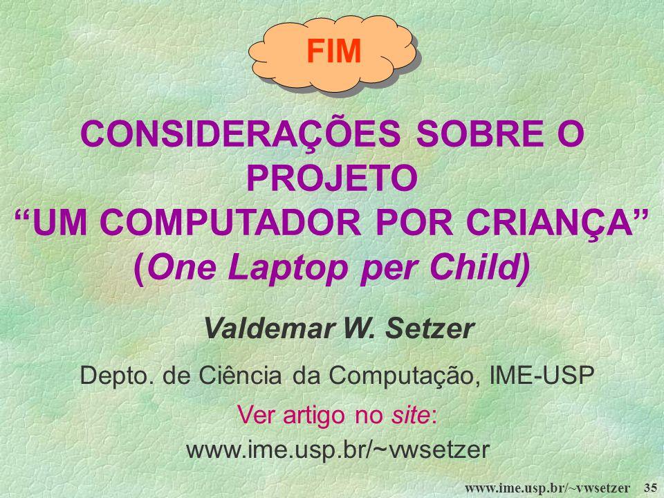 Depto. de Ciência da Computação, IME-USP