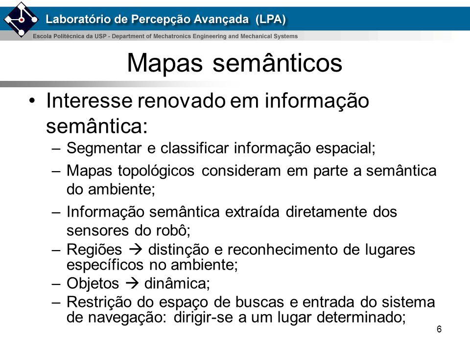Mapas semânticos Interesse renovado em informação semântica: