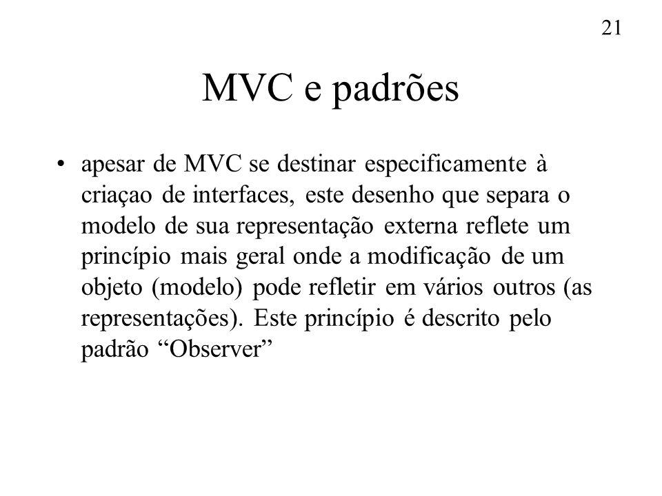 MVC e padrões