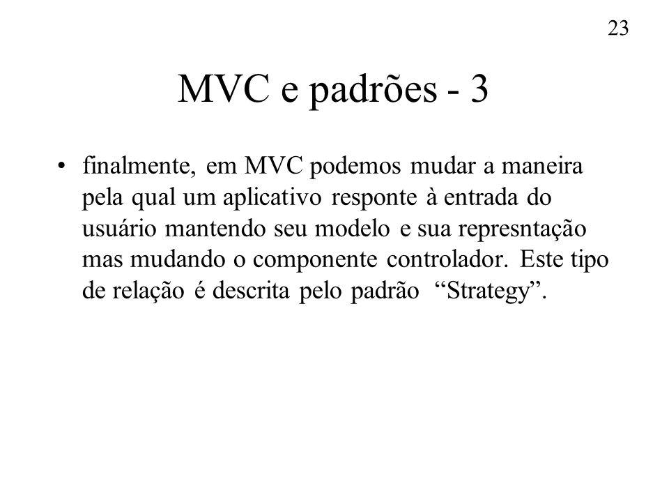 MVC e padrões - 3