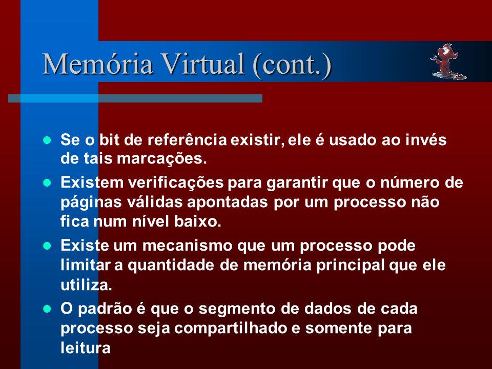 Memória Virtual (cont.)