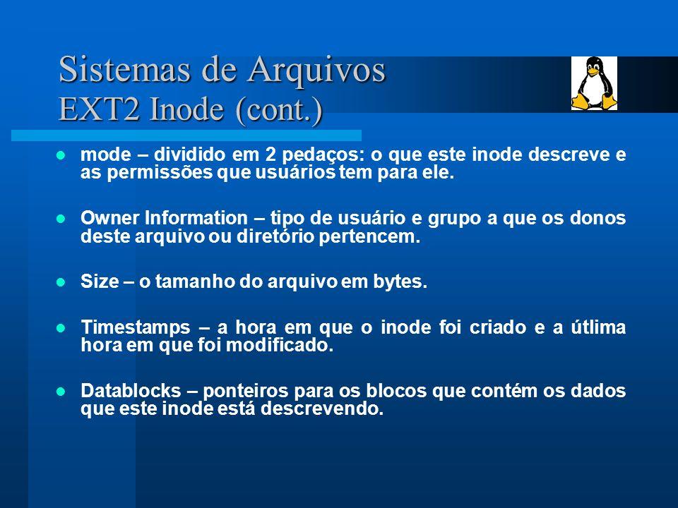 Sistemas de Arquivos EXT2 Inode (cont.)