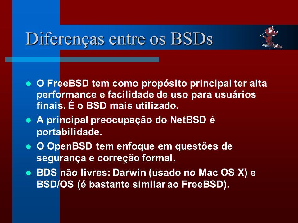 Diferenças entre os BSDs
