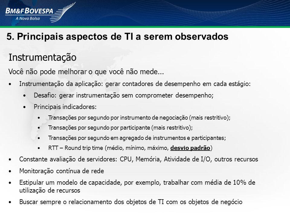 5. Principais aspectos de TI a serem observados