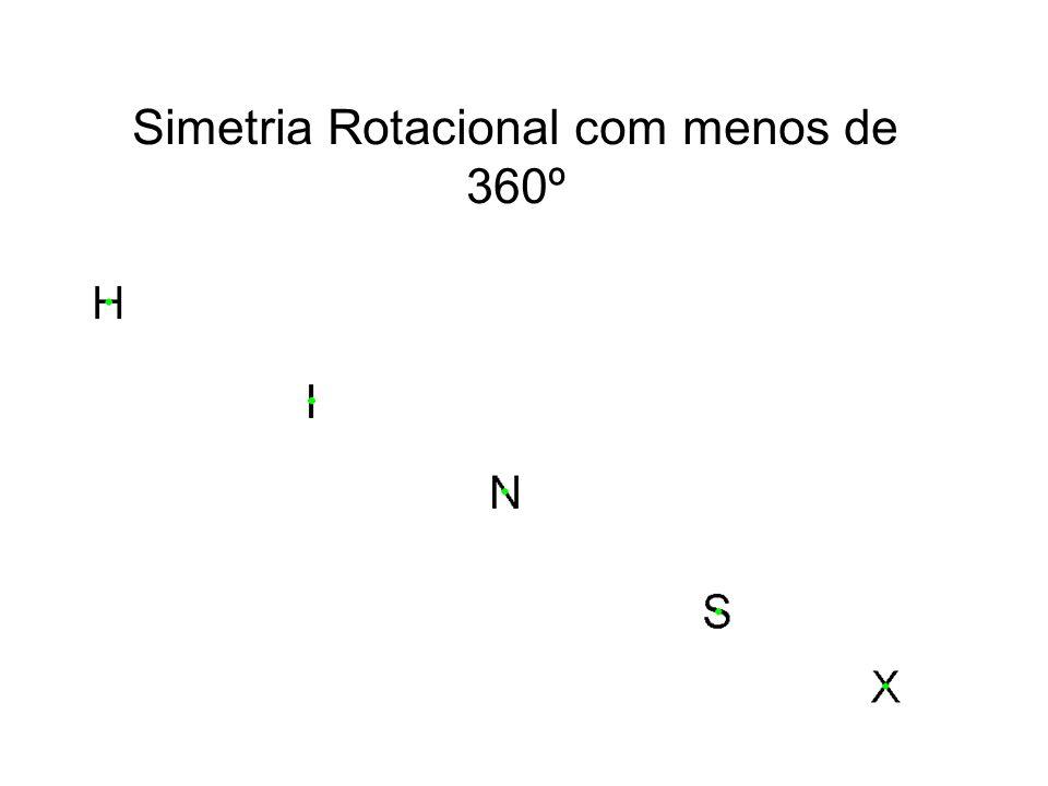 Simetria Rotacional com menos de 360º