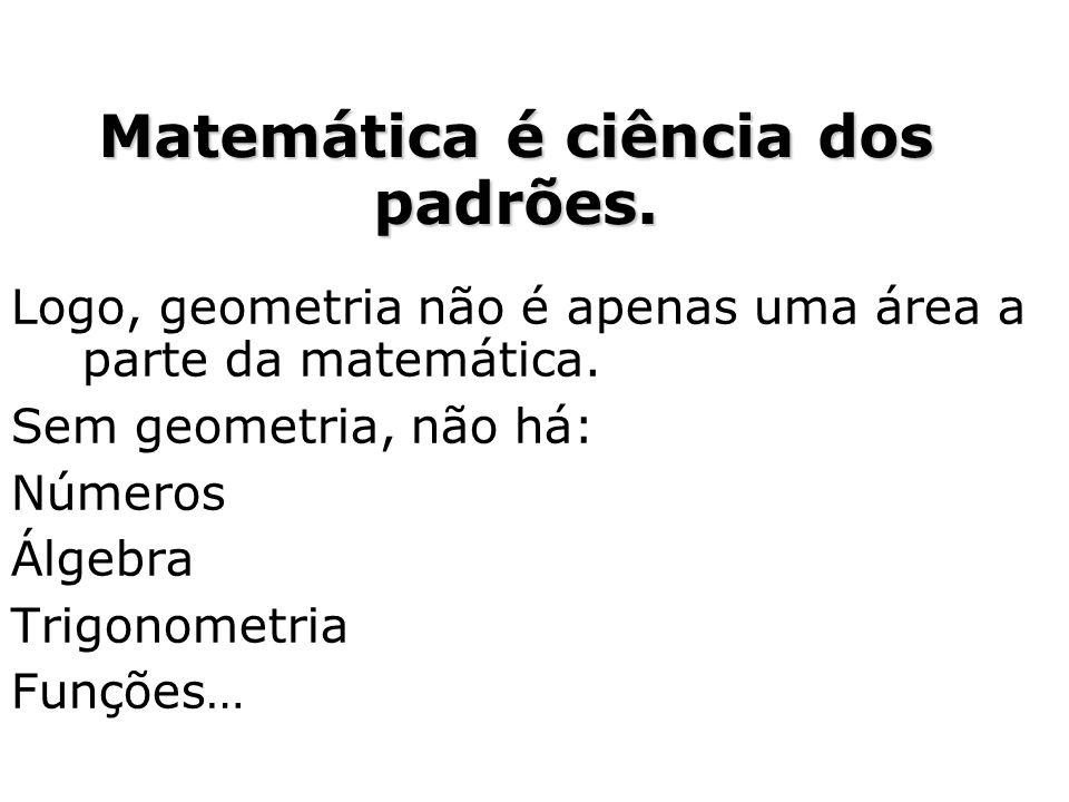Matemática é ciência dos padrões.
