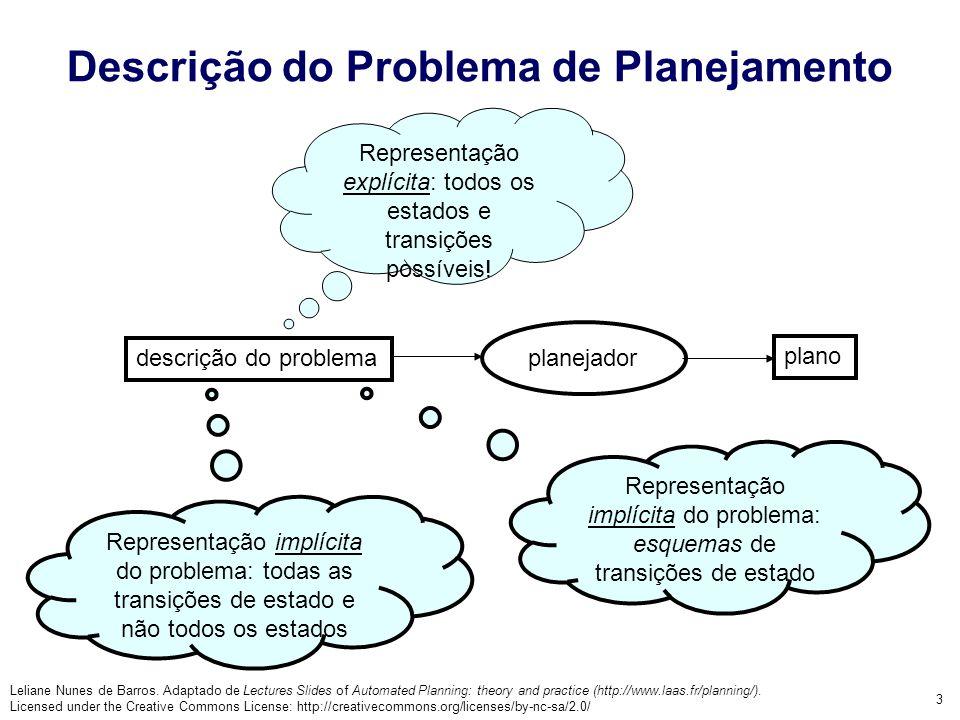 Descrição do Problema de Planejamento