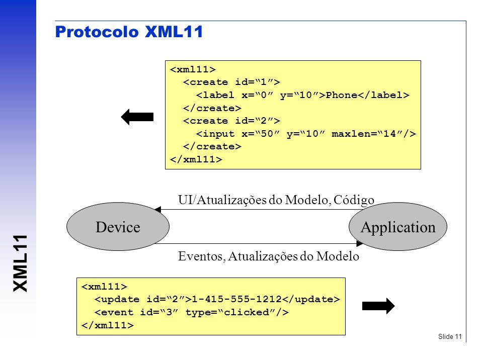 Protocolo XML11 Device Application UI/Atualizações do Modelo, Código