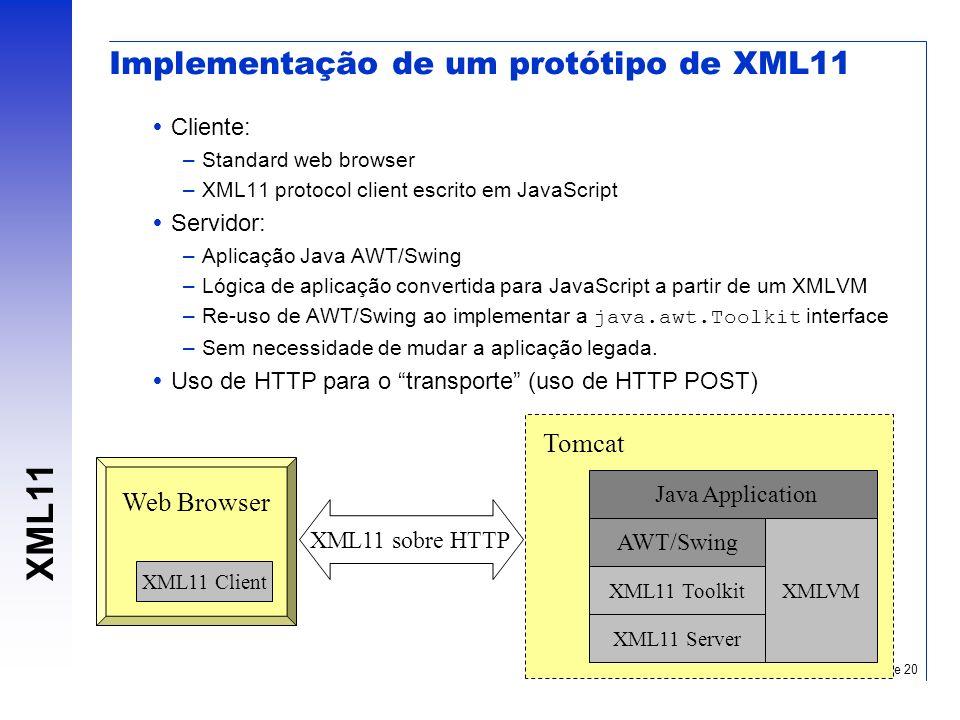 Implementação de um protótipo de XML11