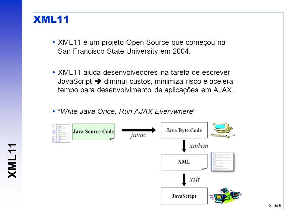 XML11 XML11 é um projeto Open Source que começou na San Francisco State University em 2004.