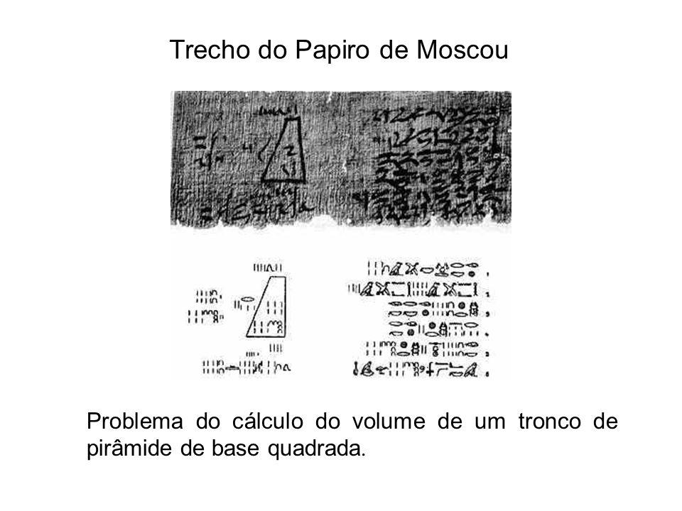 Trecho do Papiro de Moscou