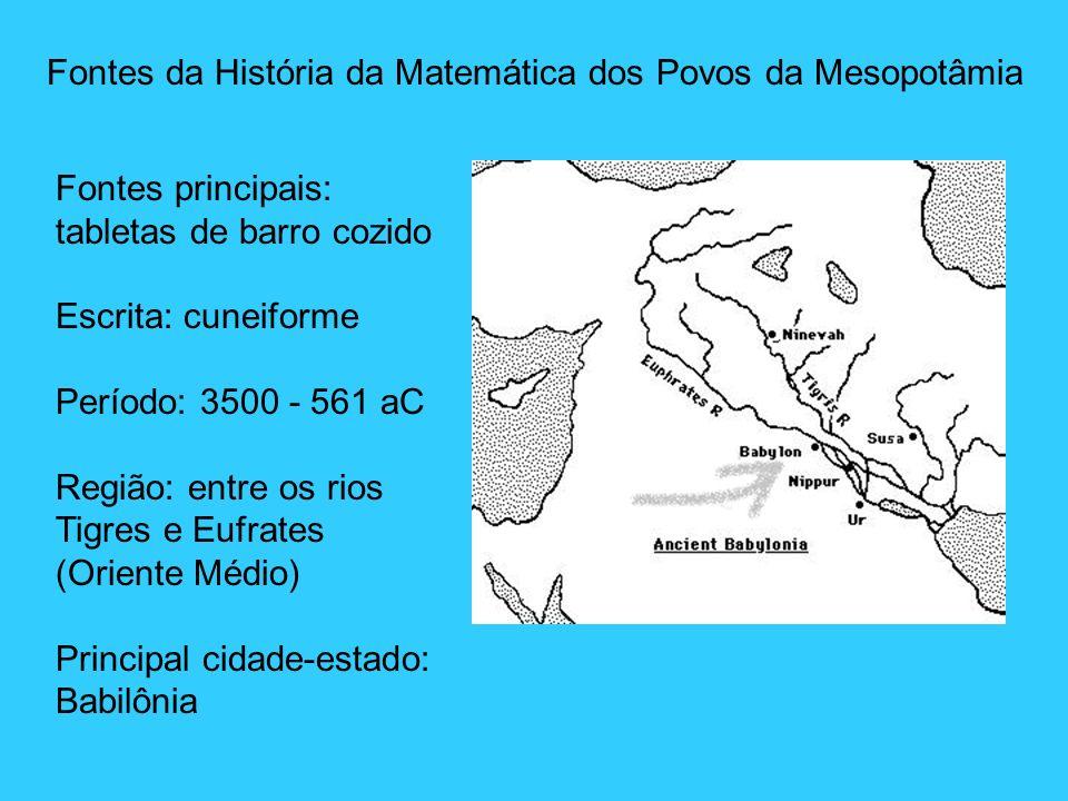 Fontes da História da Matemática dos Povos da Mesopotâmia