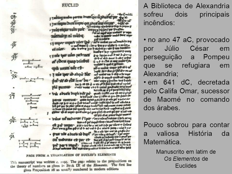 Manuscrito em latim de Os Elementos de Euclides