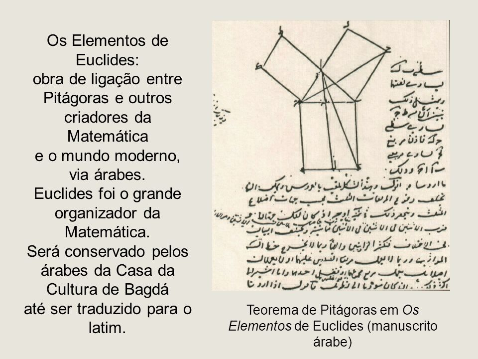 Os Elementos de Euclides: obra de ligação entre