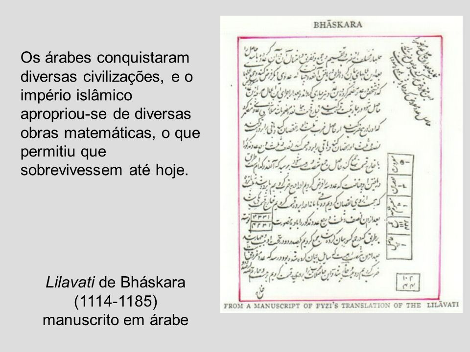 Lilavati de Bháskara (1114-1185)