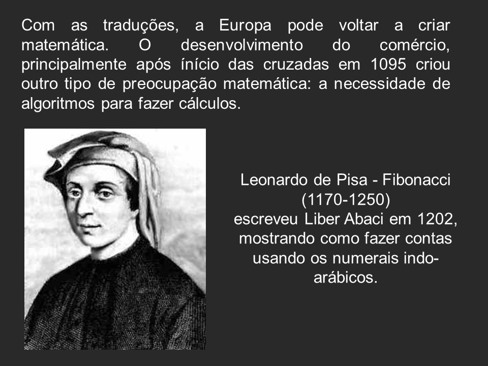 Leonardo de Pisa - Fibonacci (1170-1250)