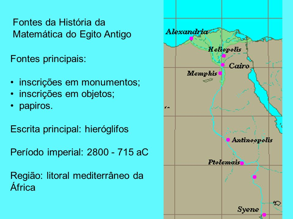Fontes da História da Matemática do Egito Antigo