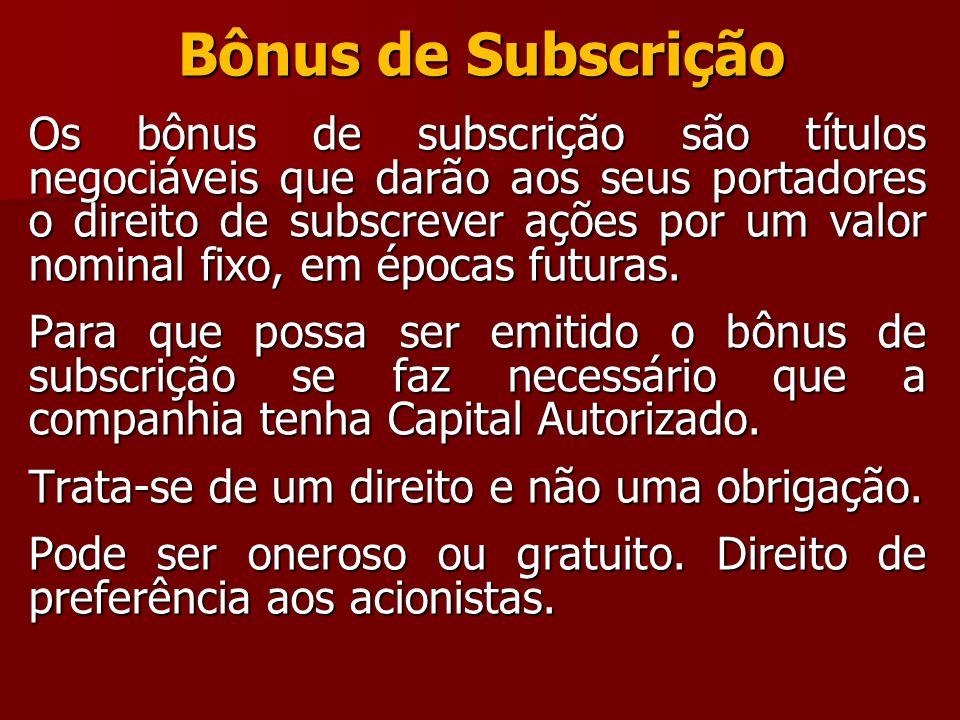 Bônus de Subscrição