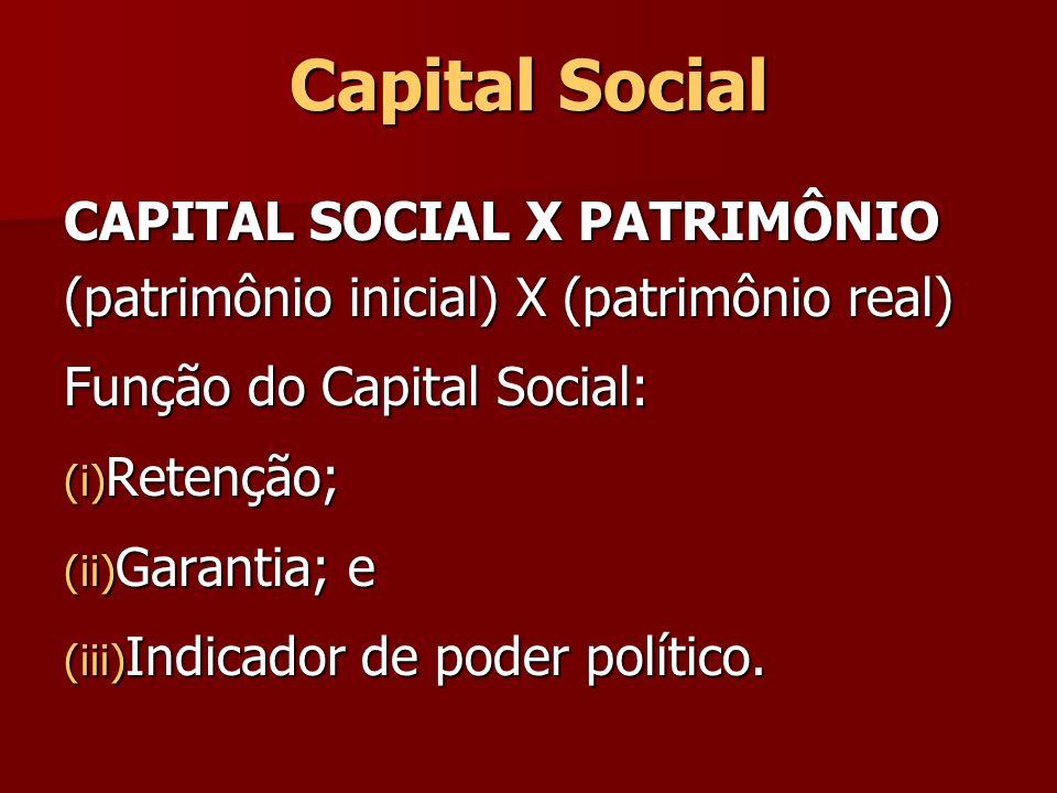 Capital Social CAPITAL SOCIAL X PATRIMÔNIO
