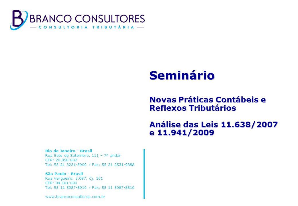 Seminário Novas Práticas Contábeis e Reflexos Tributários