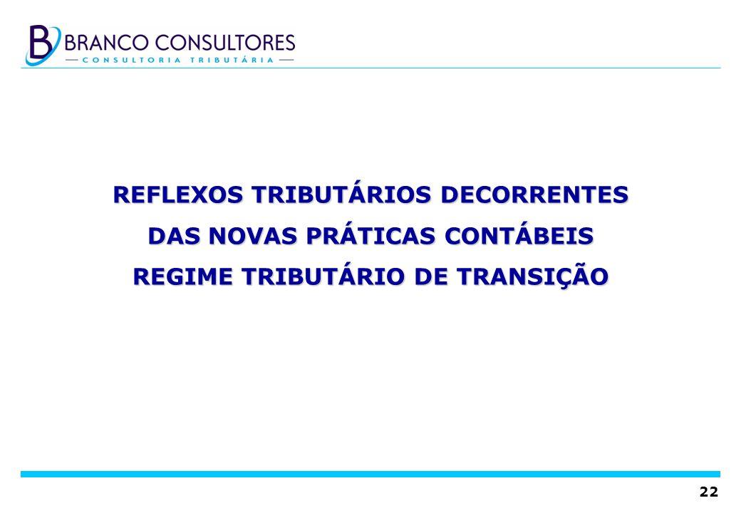 REFLEXOS TRIBUTÁRIOS DECORRENTES DAS NOVAS PRÁTICAS CONTÁBEIS