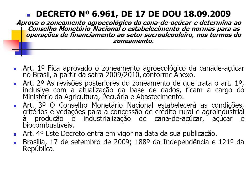DECRETO Nº 6.961, DE 17 DE DOU 18.09.2009
