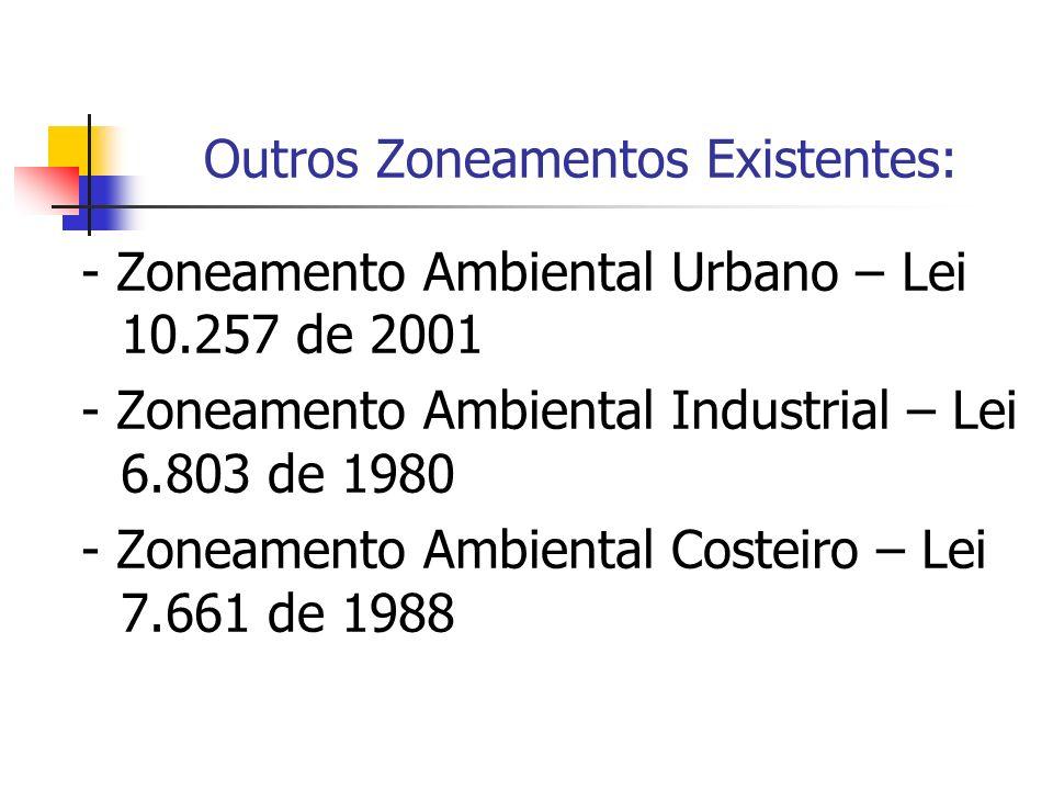 Outros Zoneamentos Existentes: