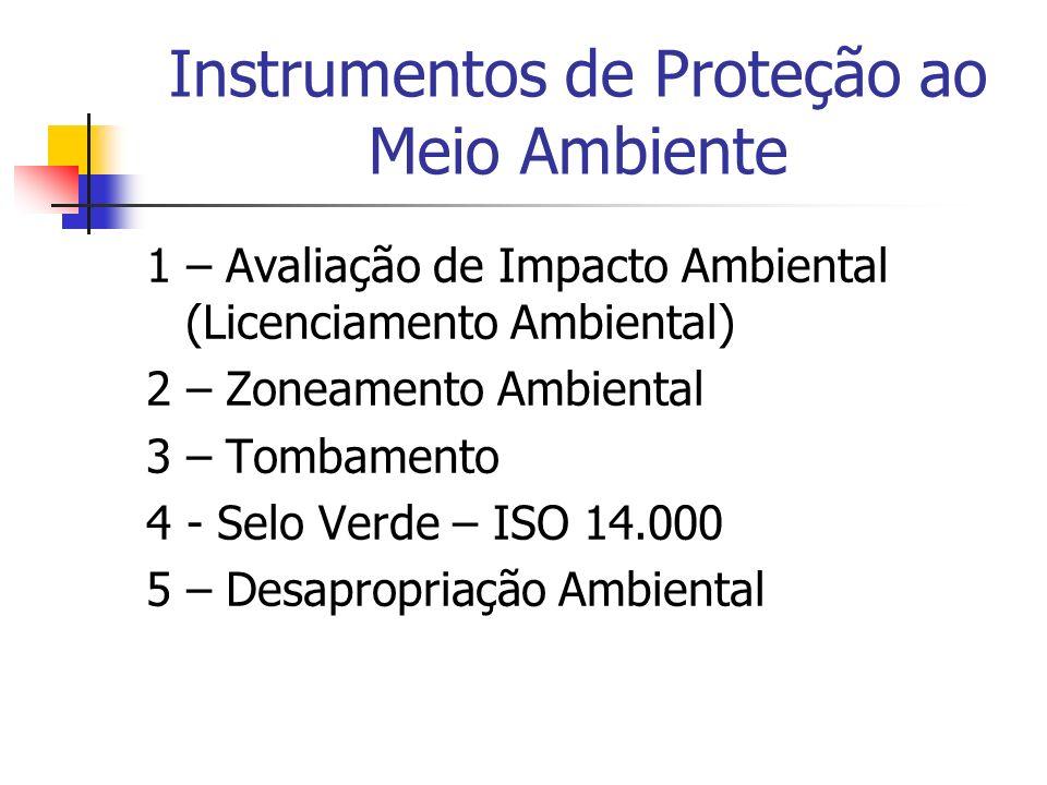 Instrumentos de Proteção ao Meio Ambiente