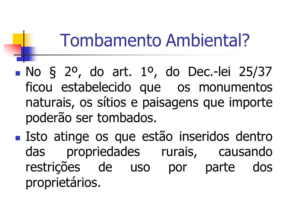 Tombamento Ambiental