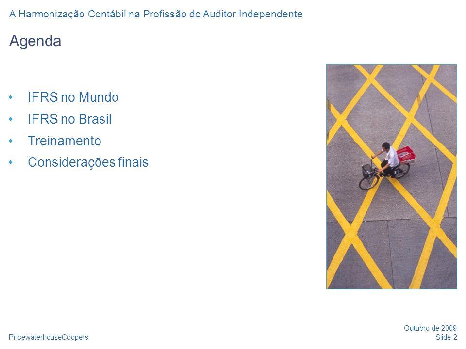 IFRS no Mundo IFRS no Brasil Treinamento Considerações finais