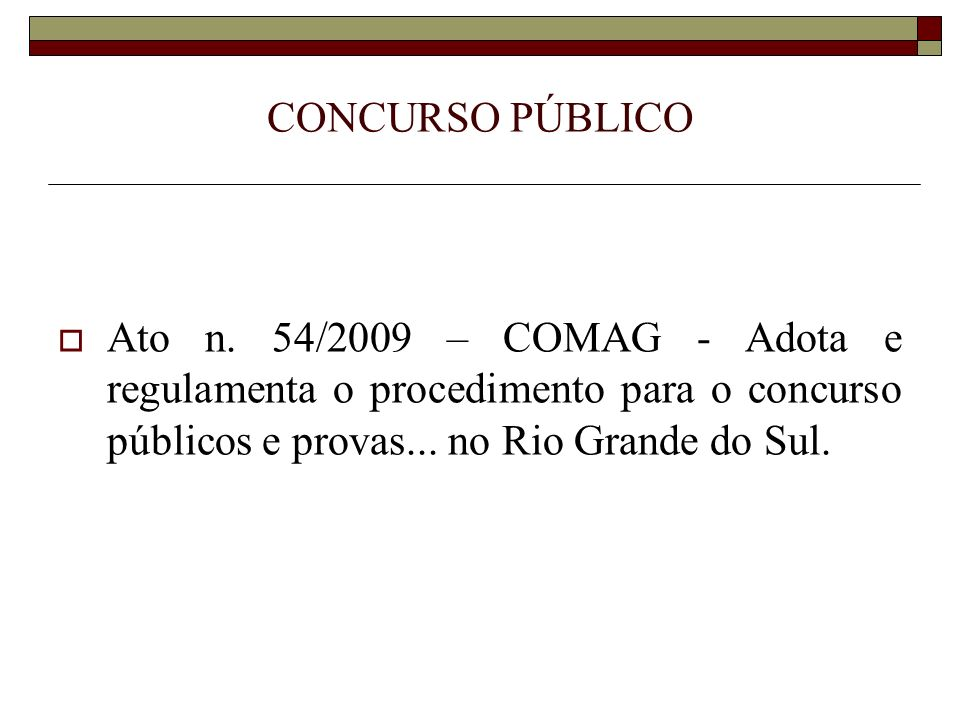 CONCURSO PÚBLICO Ato n.