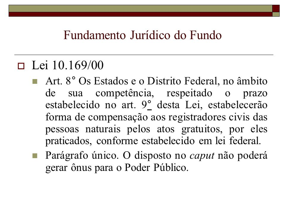 Fundamento Jurídico do Fundo