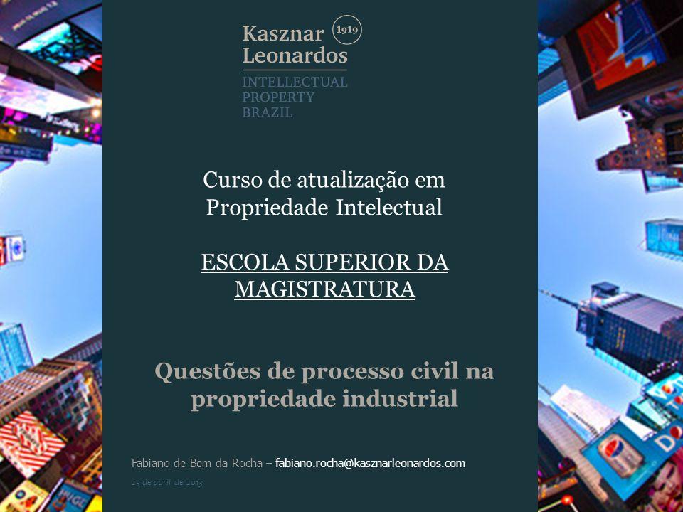 Questões de processo civil na propriedade industrial