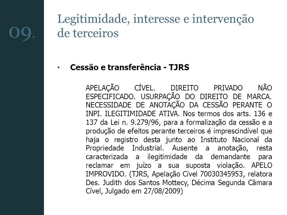 09. Legitimidade, interesse e intervenção de terceiros