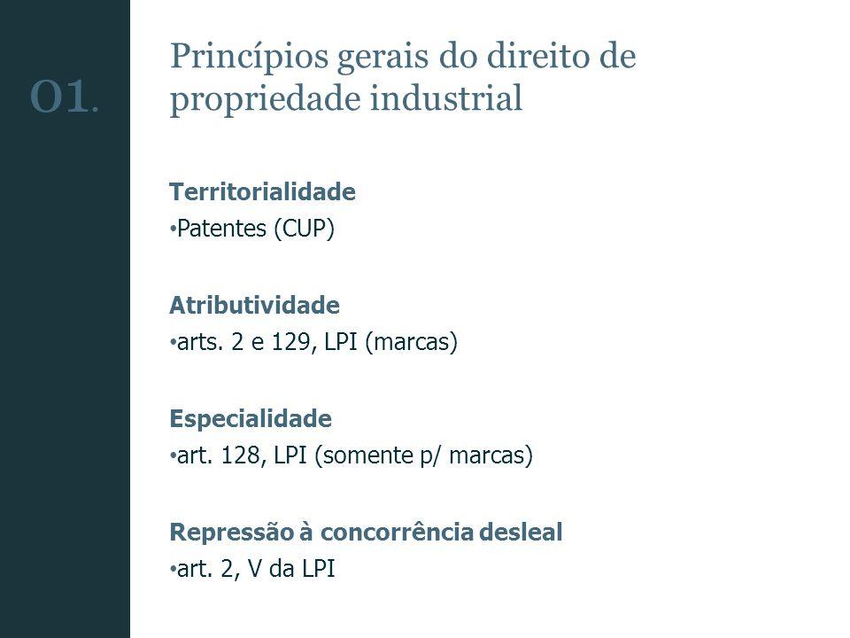 01. Princípios gerais do direito de propriedade industrial