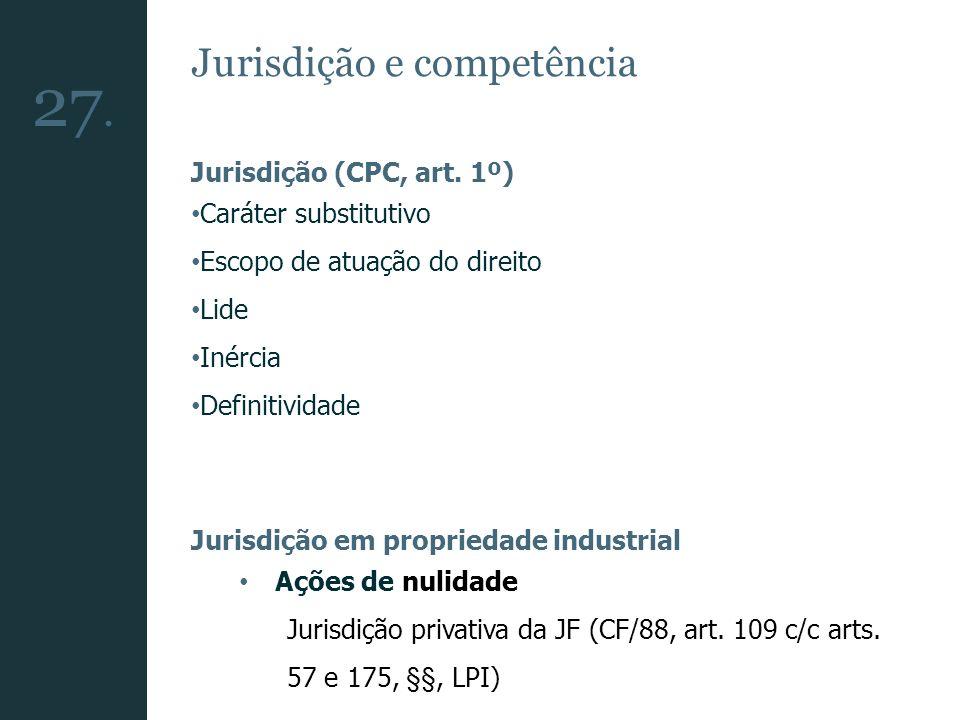 27. Jurisdição e competência Jurisdição (CPC, art. 1º)