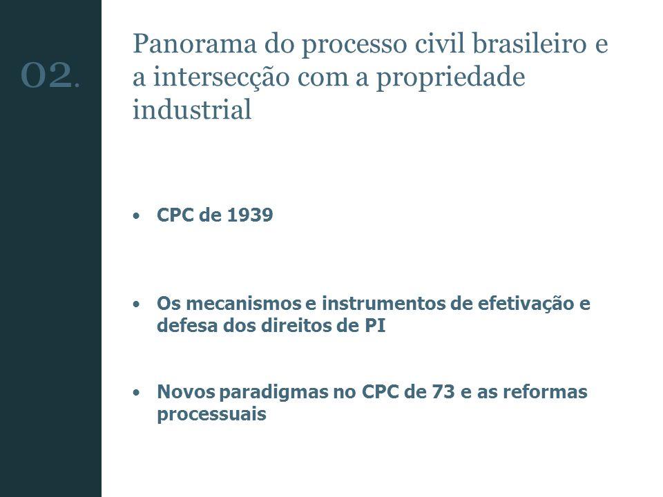 Panorama do processo civil brasileiro e a intersecção com a propriedade industrial