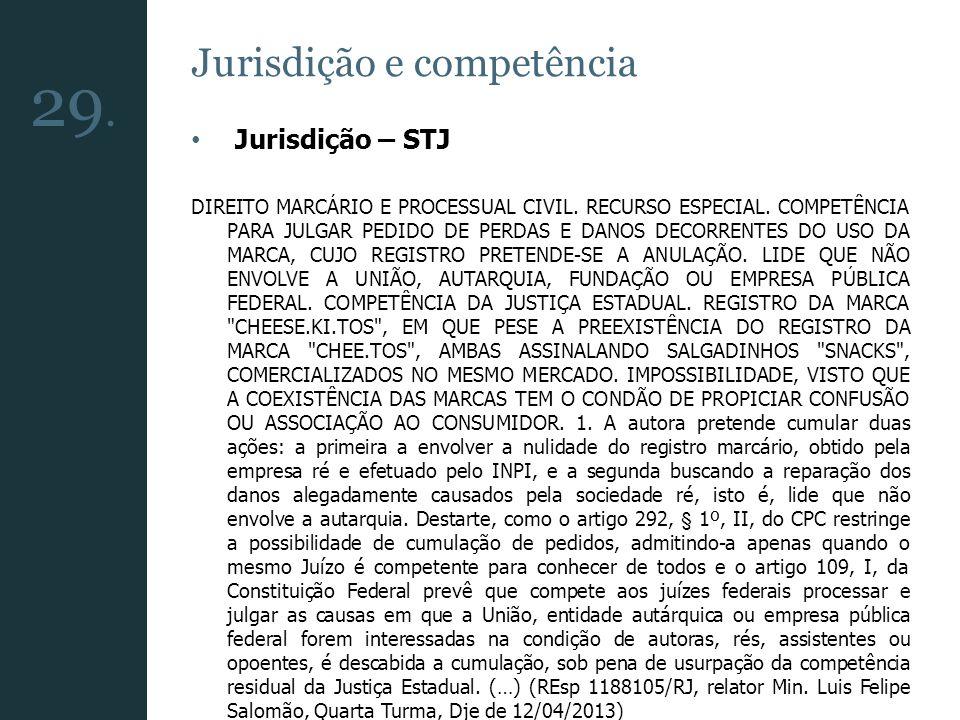 29. Jurisdição e competência Jurisdição – STJ