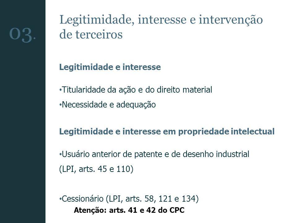 03. Legitimidade, interesse e intervenção de terceiros