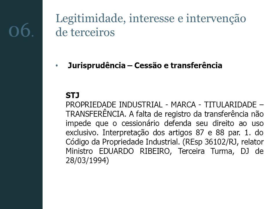 06. Legitimidade, interesse e intervenção de terceiros